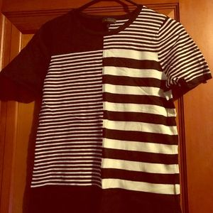 Limited navy and white stripe top, size medium
